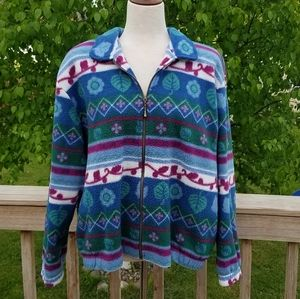 Vintage 90s Teddi Fleece Zip Up Jacket
